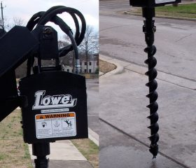 Lowe 750 Hex Classic Auger with 4″ Hex Auger Bit