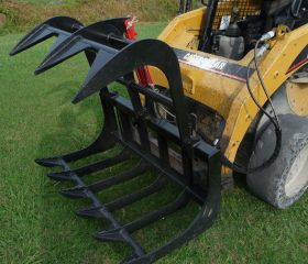 48″ Single Cylinder Root Grapple Bucket Attachment