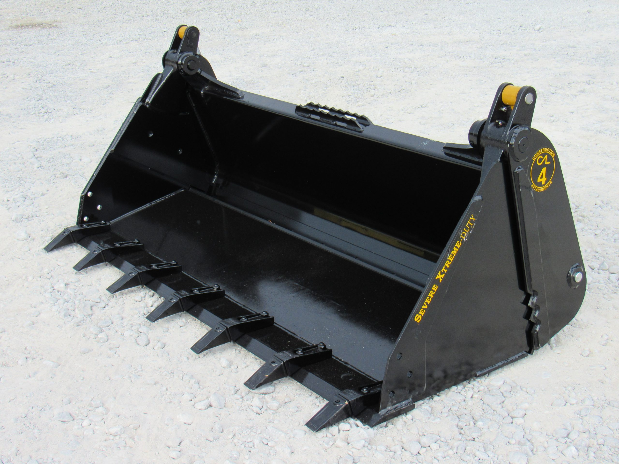 73 Construction Attachments 4 In 1 Severe Xtreme Tooth Bucket Skid Steer Attachment Depot