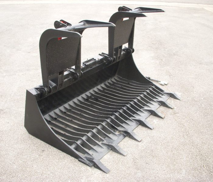 66 inch Rock Bucket Grapple with Teeth
