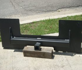 Skid Steer Trailer Hitch Receiver Mount Plate Attachment - Free Shipping