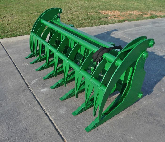 John Deere 84 inch Root Rake Clam Grapple