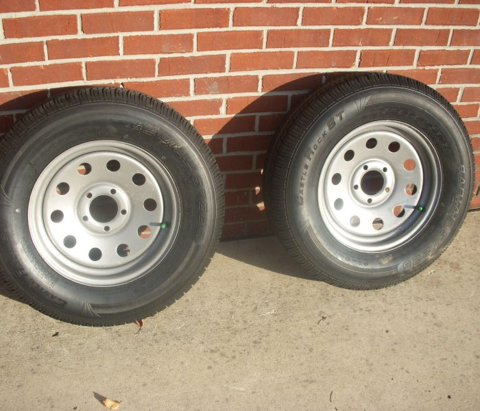 Castle Rock ST205/ 75 R15 Trailer Wheels and Tires - Skid Steer Attachment  Depot