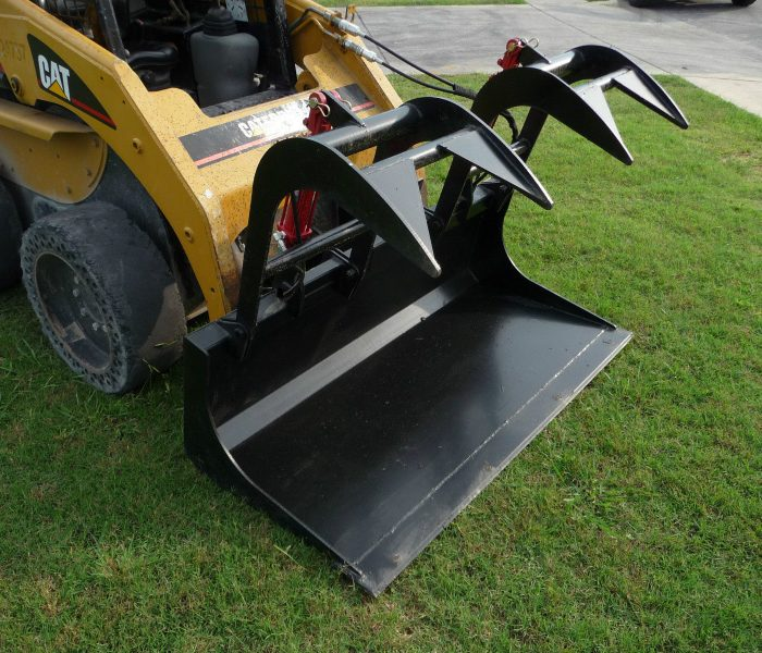 72 inch Solid Bottom Bucket Grapple