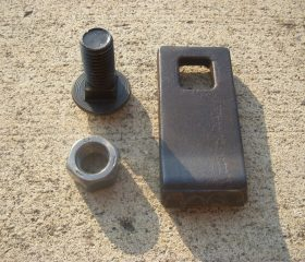 Lowe L13-G558 Carbide Tipped Auger Bit Tooth with Bolt and Nut
