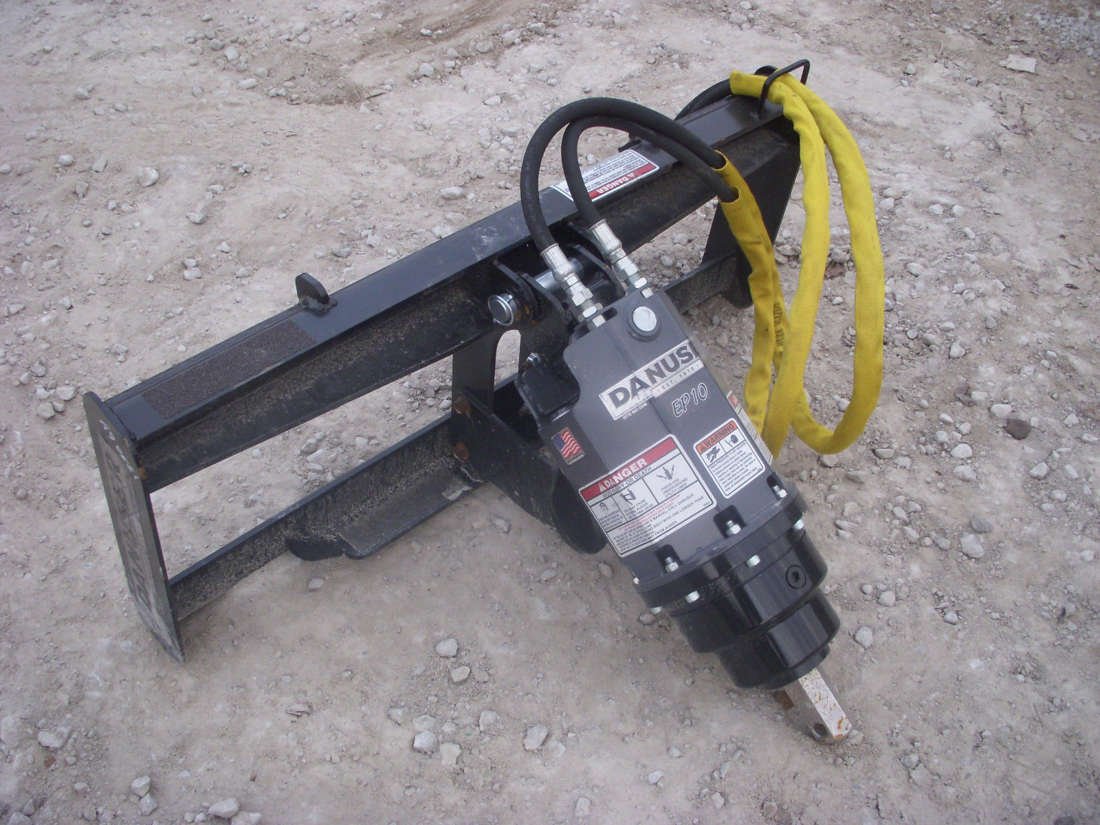 Danuser Ep 10 Hex Auger Drive Unit Skid Steer Attachment