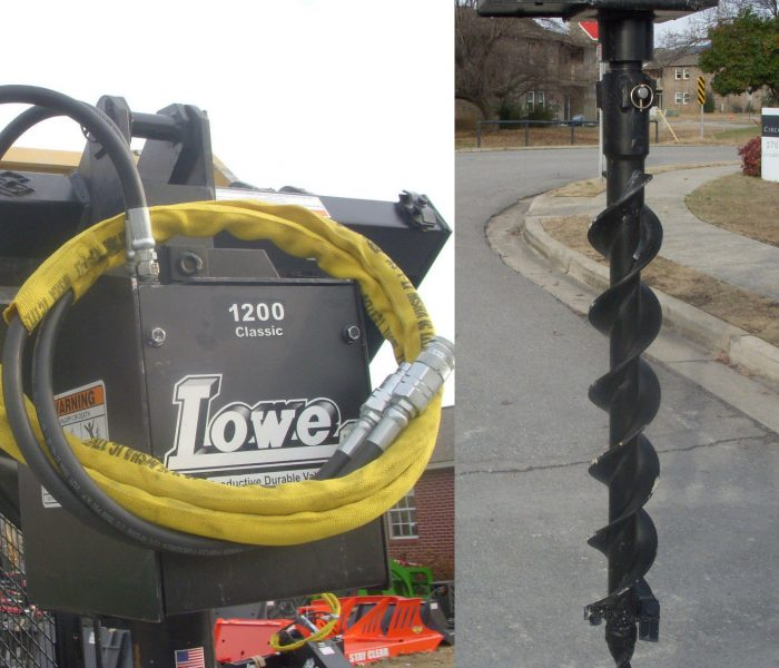 Lowe 1200 Classic Auger with 6 inch Bit