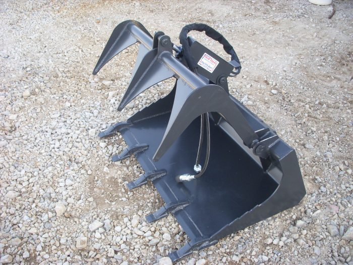 42 inch Solid Bottom Bucket Grapple with Teeth