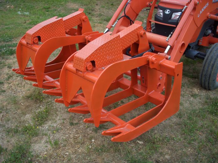 72 inch Heavy Duty Dual Cylinder Root Grapple