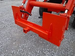 Kubota Skid Steer Attachment Trailer Hitch Receiver Mount Plate