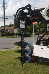 Bobcat Skid Steer Attachment - Lowe 750 Hex Auger with 24 inch bit