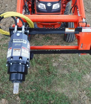 Kubota Tractor Attachment - Danuser EP 10 Hex Auger with 30 inch Bit