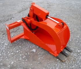 Heavy Duty Stump Bucket Grapple - Orange